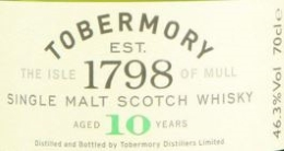 Tobernory 10YO Label NEW
