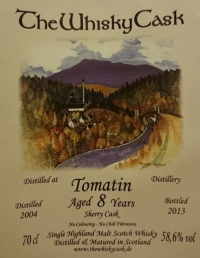 Tomatin 2004 (The Whisky Cask) Label 3